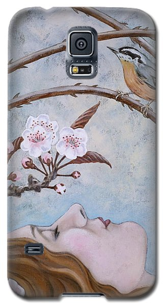 Galaxy S5 Case featuring the painting She Dreams The Spring by Sheri Howe