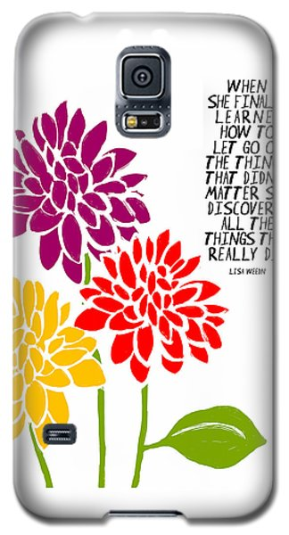 Galaxy S5 Case featuring the painting She Finally Learned by Lisa Weedn