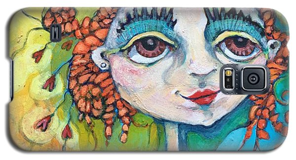 Galaxy S5 Case featuring the painting She Has Lots Of Heart To Give by Michelle Spiziri