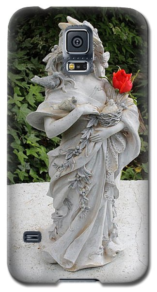 Galaxy S5 Case featuring the photograph She Includes The Rose by Marie Neder