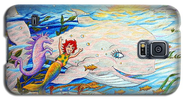 Galaxy S5 Case featuring the painting She Joyfully Swims  by Matt Konar