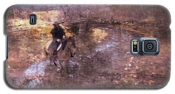 She Rides A Mustang-wrangler In The Rain II Galaxy S5 Case by Anastasia Savage Ealy