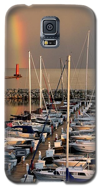 Sheboygan Harbor Rainbow Galaxy S5 Case