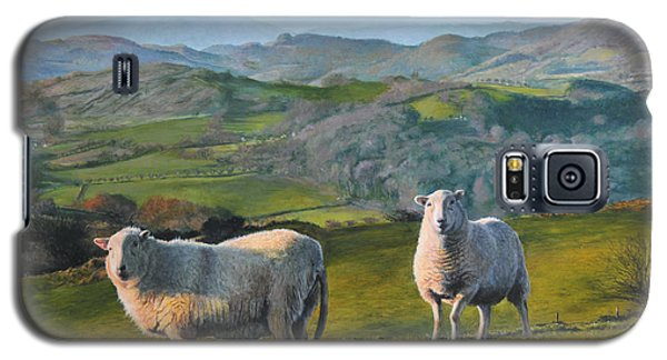 Sheep At Rhug Galaxy S5 Case by Harry Robertson