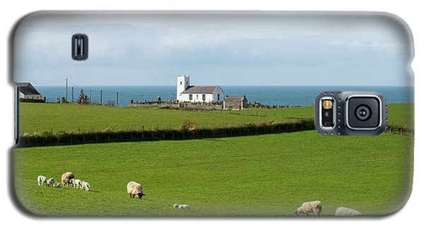Galaxy S5 Case featuring the photograph Sheep Grazing On Irish Coastline by Juli Scalzi