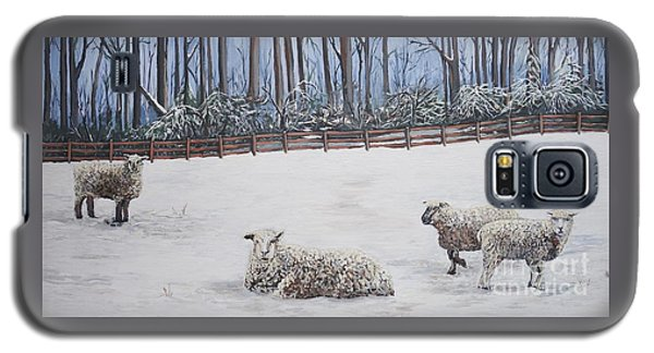 Sheep In Field Galaxy S5 Case