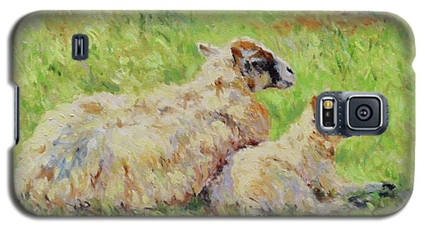Sheep In The Spring Time,la Vie Est Belle Galaxy S5 Case