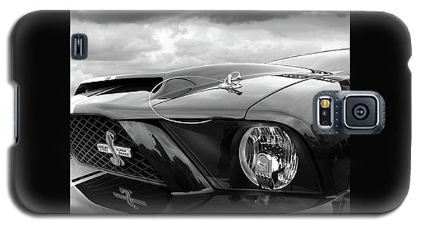 Galaxy S5 Case featuring the photograph Shelby Super Snake Mustang Grille And Headlight by Gill Billington