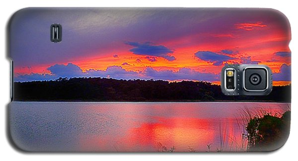 Galaxy S5 Case featuring the photograph Shelf Cloud At Sunset by Bill Barber