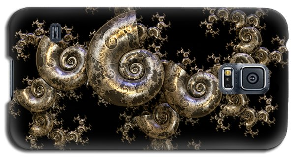Galaxy S5 Case featuring the digital art Shell Fractal Dragon by Manny Lorenzo