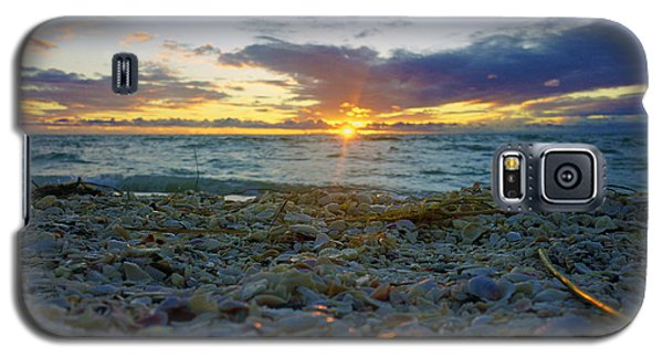 Shells On The Beach At Sunset Galaxy S5 Case by Robb Stan