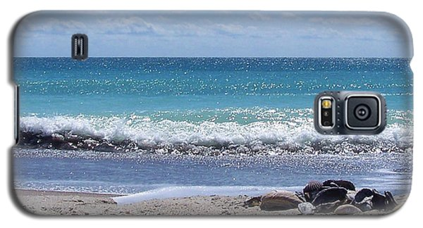Galaxy S5 Case featuring the photograph Shells On The Beach by Sandi OReilly