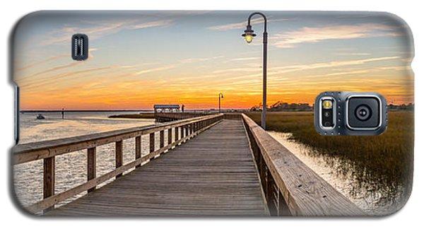 Shem Creek Pier Panoramic Galaxy S5 Case