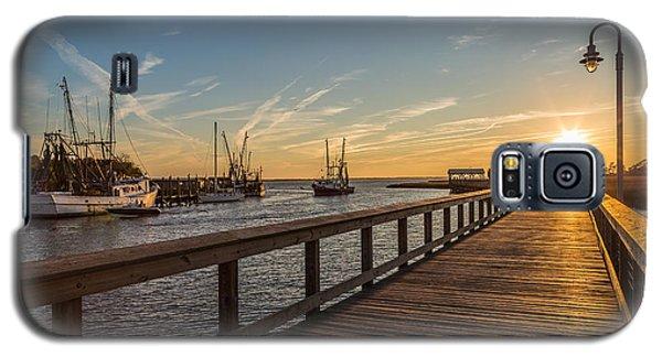 Shem Creek Pier Sunset - Mt. Pleasant Sc Galaxy S5 Case