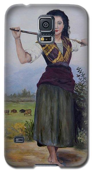 Galaxy S5 Case featuring the painting Shepherdess by Sandra Nardone