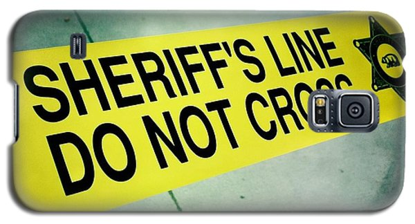 Sheriff's Line - Do Not Cross Galaxy S5 Case by Nina Prommer