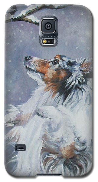 Shetland Sheepdog With Chickadee Galaxy S5 Case