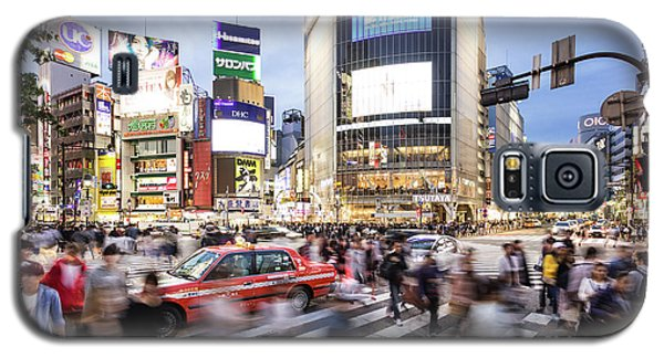 Shibuya Crossing At Night In Tokyo Galaxy S5 Case