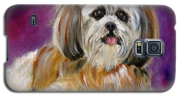 Shih-tzu Puppy Galaxy S5 Case by Jenny Lee