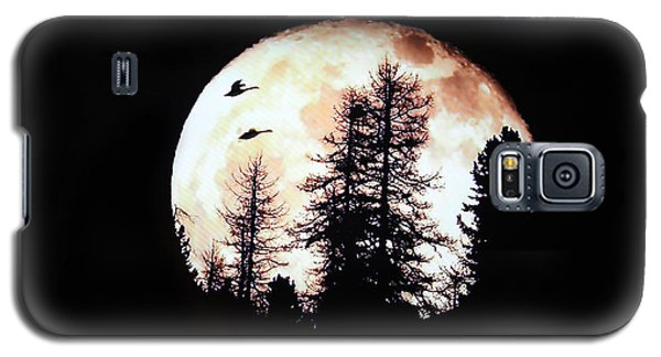 Silhouettes Om Full Moon Galaxy S5 Case by Linda Phelps