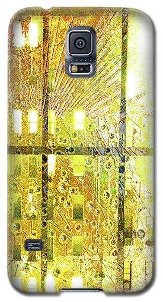 Galaxy S5 Case featuring the mixed media Shine A Light by Tony Rubino