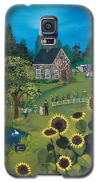 Galaxy S5 Case featuring the painting Shine On by Virginia Coyle