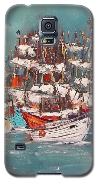 Ship Harbor Galaxy S5 Case