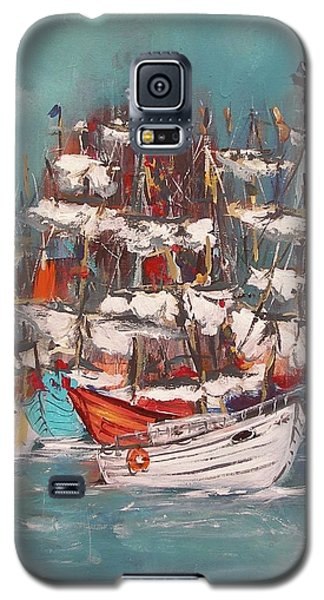 Ship Harbor Galaxy S5 Case