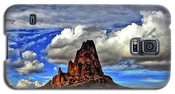 Galaxy S5 Case featuring the photograph Shiprock Panorama by Scott Mahon