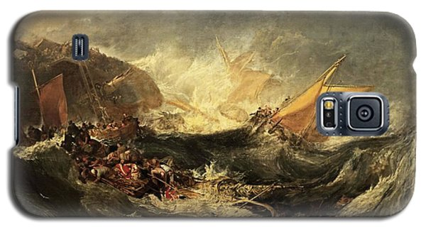 Galaxy S5 Case featuring the painting Shipwreck Of The Minotaur by J M William Turner