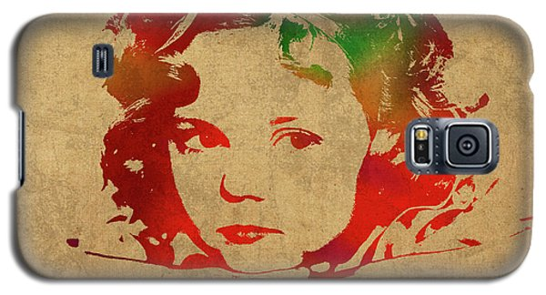 Shirley Temple Galaxy S5 Case - Shirley Temple Watercolor Portrait by Design Turnpike