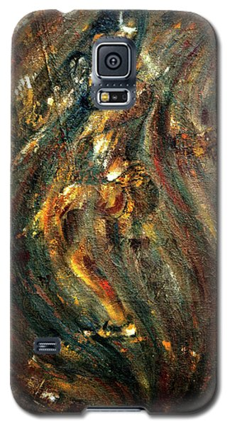 Galaxy S5 Case featuring the painting Shiva Eternal Dance by Harsh Malik