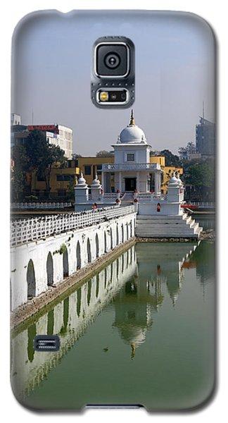 Galaxy S5 Case featuring the photograph Shiva Temple In Lake Rani Pokharil, Kathmandu, Nepal by Aidan Moran