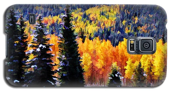 Shivering Pines In Autumn Galaxy S5 Case by Diane Alexander