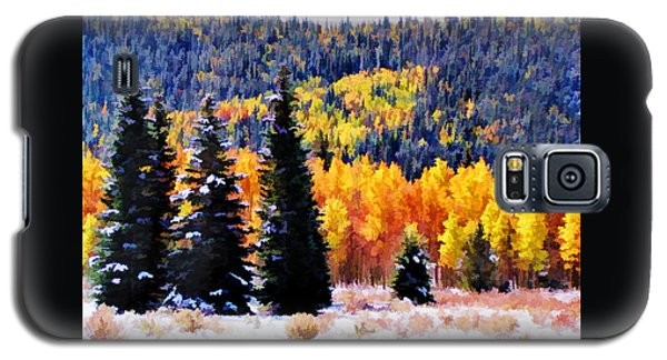 Shivering Pines In Autumn Galaxy S5 Case