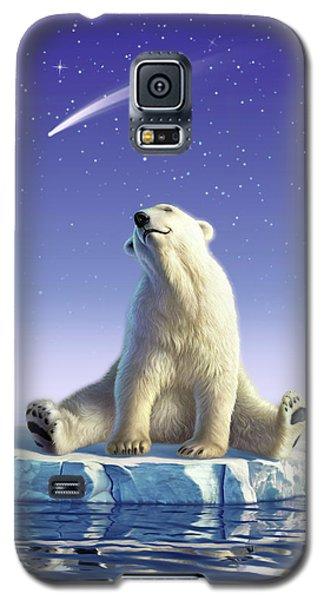 Polar Bear Galaxy S5 Case - Shooting Star by Jerry LoFaro
