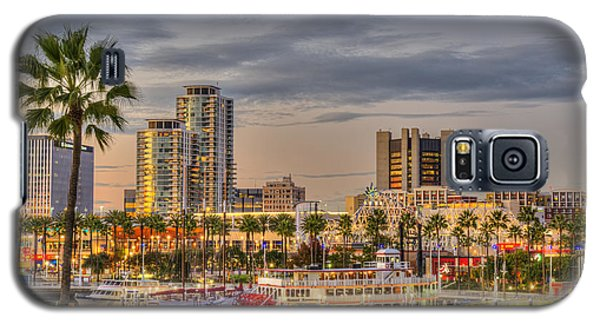 Shoreline Village Rainbow Harbor Marina Galaxy S5 Case by David Zanzinger