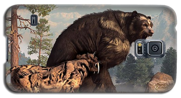Short-faced Bear And Saber-toothed Cat Galaxy S5 Case