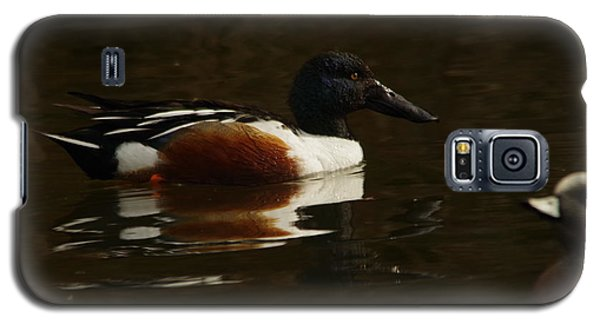 Galaxy S5 Case featuring the photograph Shovel Tail And A Wigeon by Jeff Swan