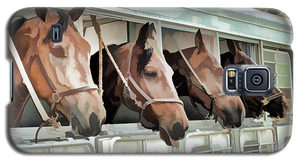 Show Horses On The Move  Galaxy S5 Case by Wilma Birdwell