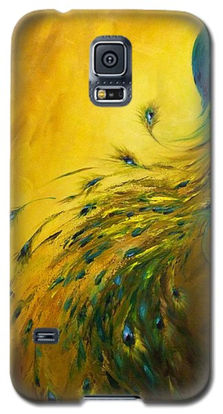 Show Off 1 Vertical Peacock Galaxy S5 Case by Dina Dargo