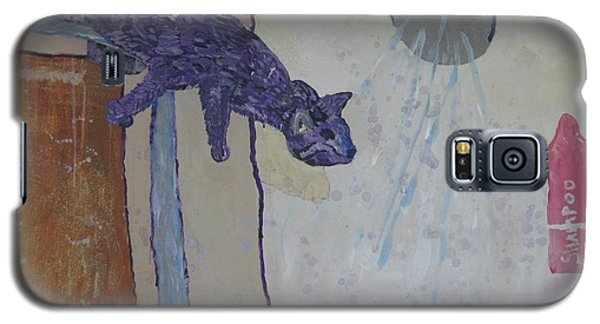Shower Cat Galaxy S5 Case by AJ Brown
