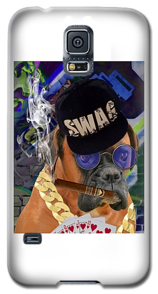 Galaxy S5 Case featuring the mixed media Showing My Cards by Marvin Blaine