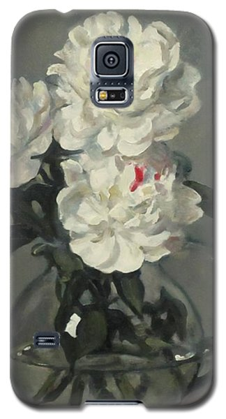 Showy White Peonies In Glass Pitcher Galaxy S5 Case