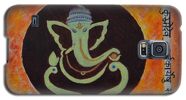 Galaxy S5 Case featuring the painting Shri Ganeshay Namah by Sonali Gangane