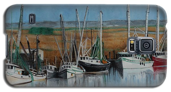 Shrimp Boats Of Darien, Ga Galaxy S5 Case