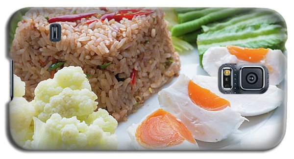 Galaxy S5 Case featuring the photograph Shrimp Paste Fried Rice by Atiketta Sangasaeng