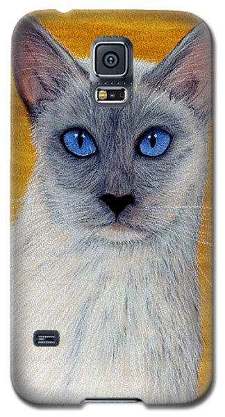 Galaxy S5 Case featuring the pastel Siam by Jan Amiss