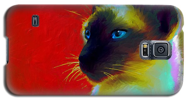 Siamese Cat 10 Painting Galaxy S5 Case