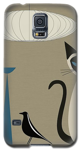 Siamese Cat With Eames House Bird Galaxy S5 Case
